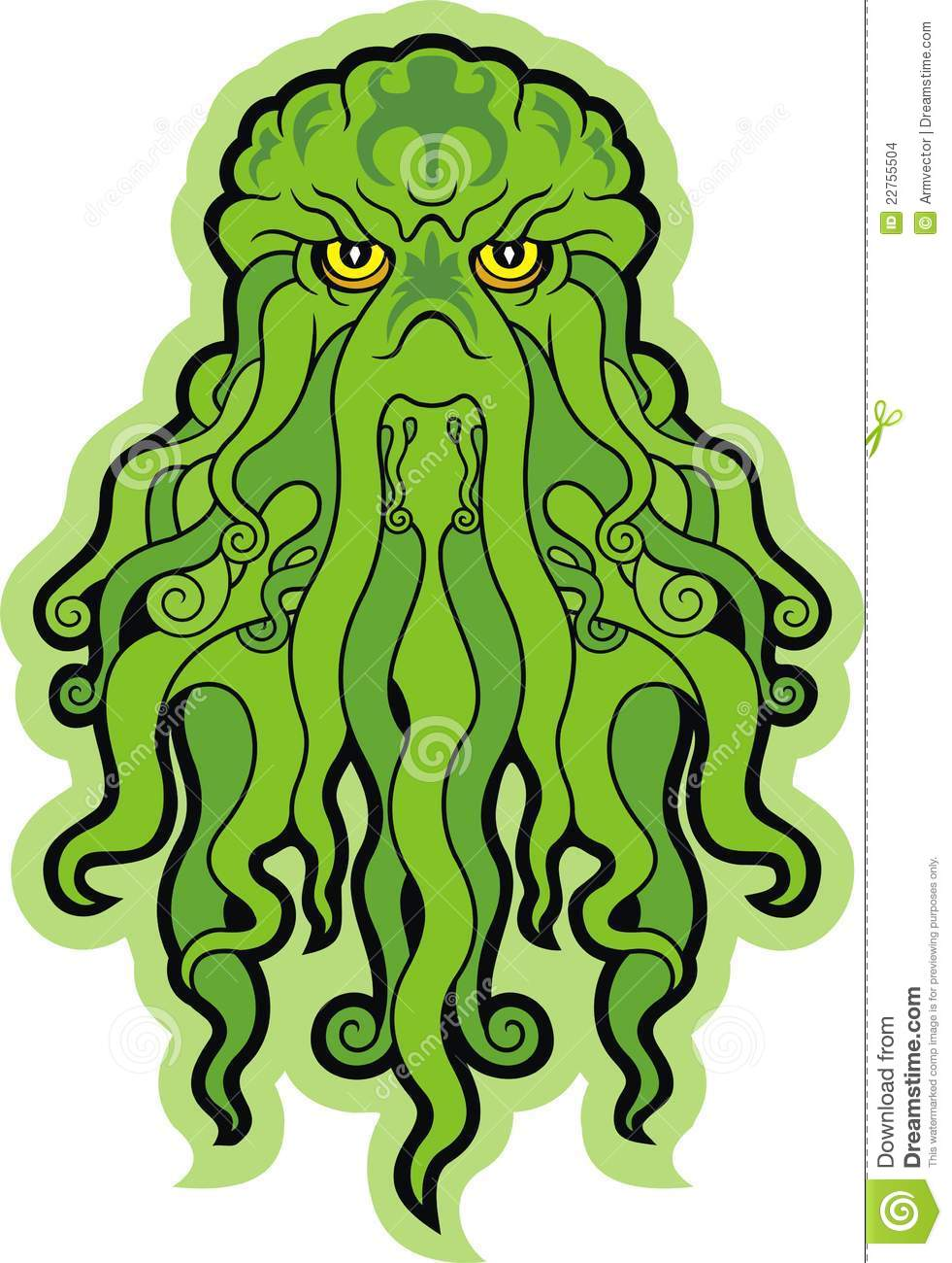 Sea monster clipart.