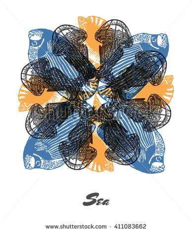 Vector Images, Illustrations and Cliparts: Vector Sea mood.