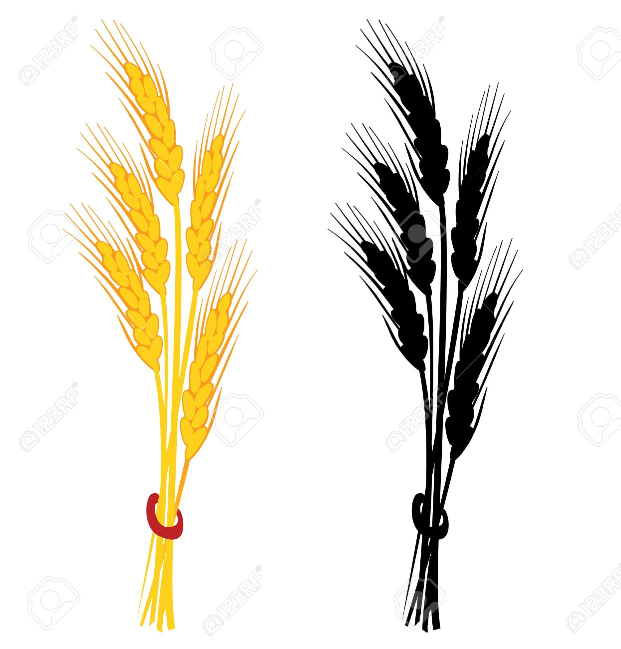 Wheat Ears Clip Art.