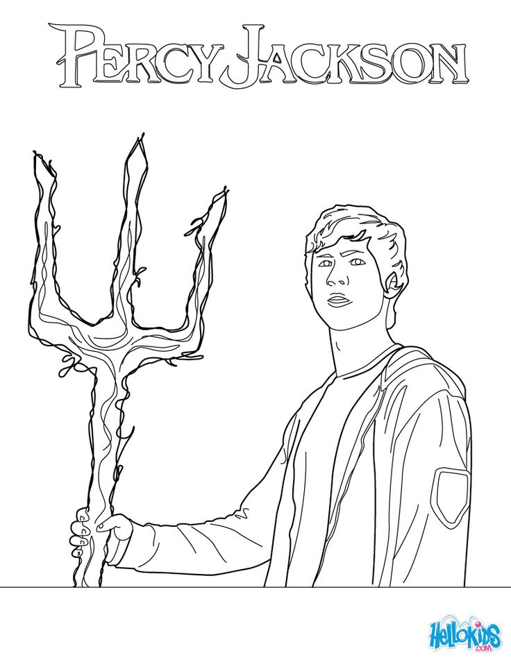 More colouring in fun with Percy Jackson.