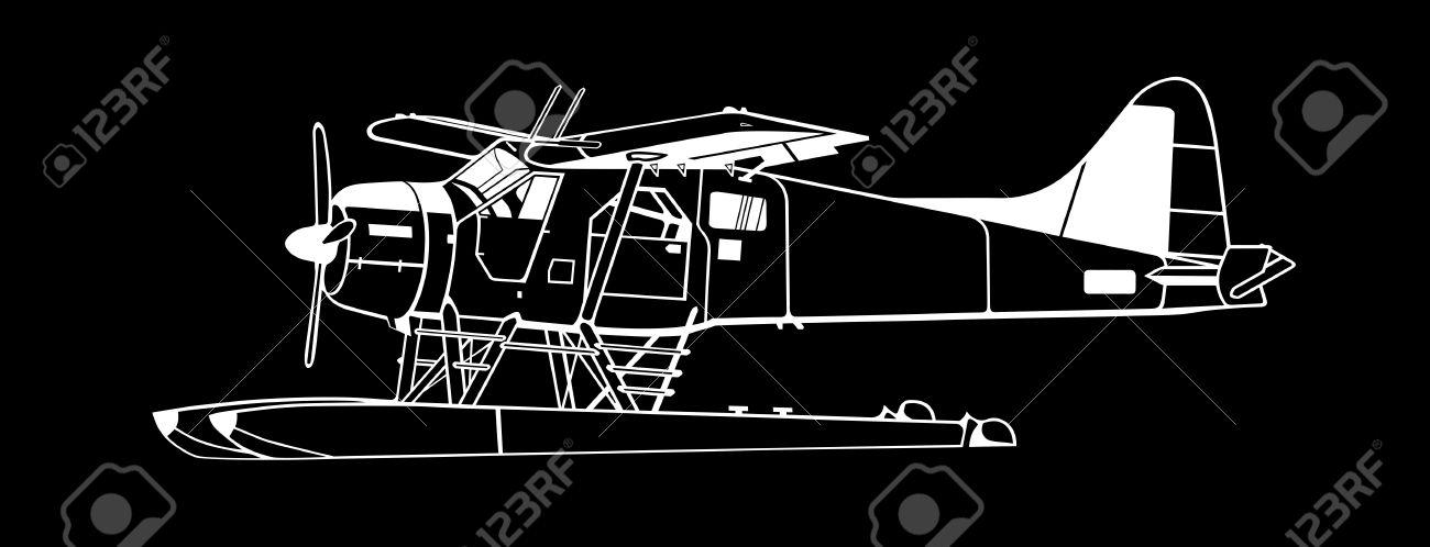 Indiscrete Style Black Negative Propeller Driven Seaplane Skimmers.