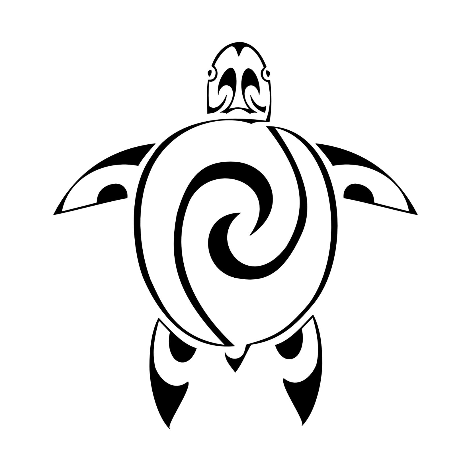 Tattoo of Turtle, Fertility tattoo.