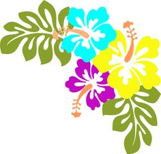 Sea Flowers Clip Art.