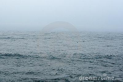Fog Over Sea Or Ocean Royalty Free Stock Photos.