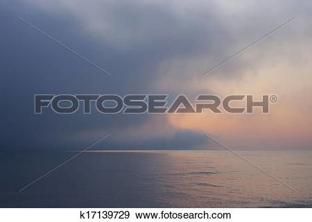 Stock Photograph of Of the sea, sea fog k17139729.