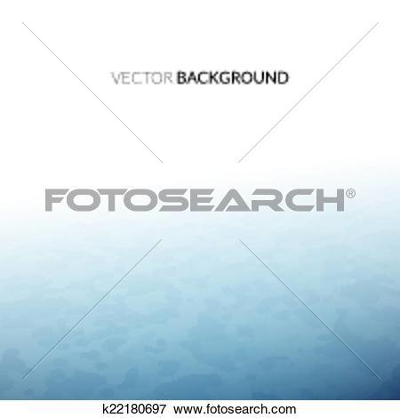 Clip Art of The horizon with fog, blue sea or ocean k22180697.