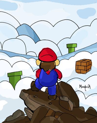Mario above the Sea of Fog By Munguia.