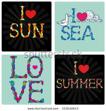 Declaration Of Love. Symbol Of Summer, Spring, Sea And Joy.