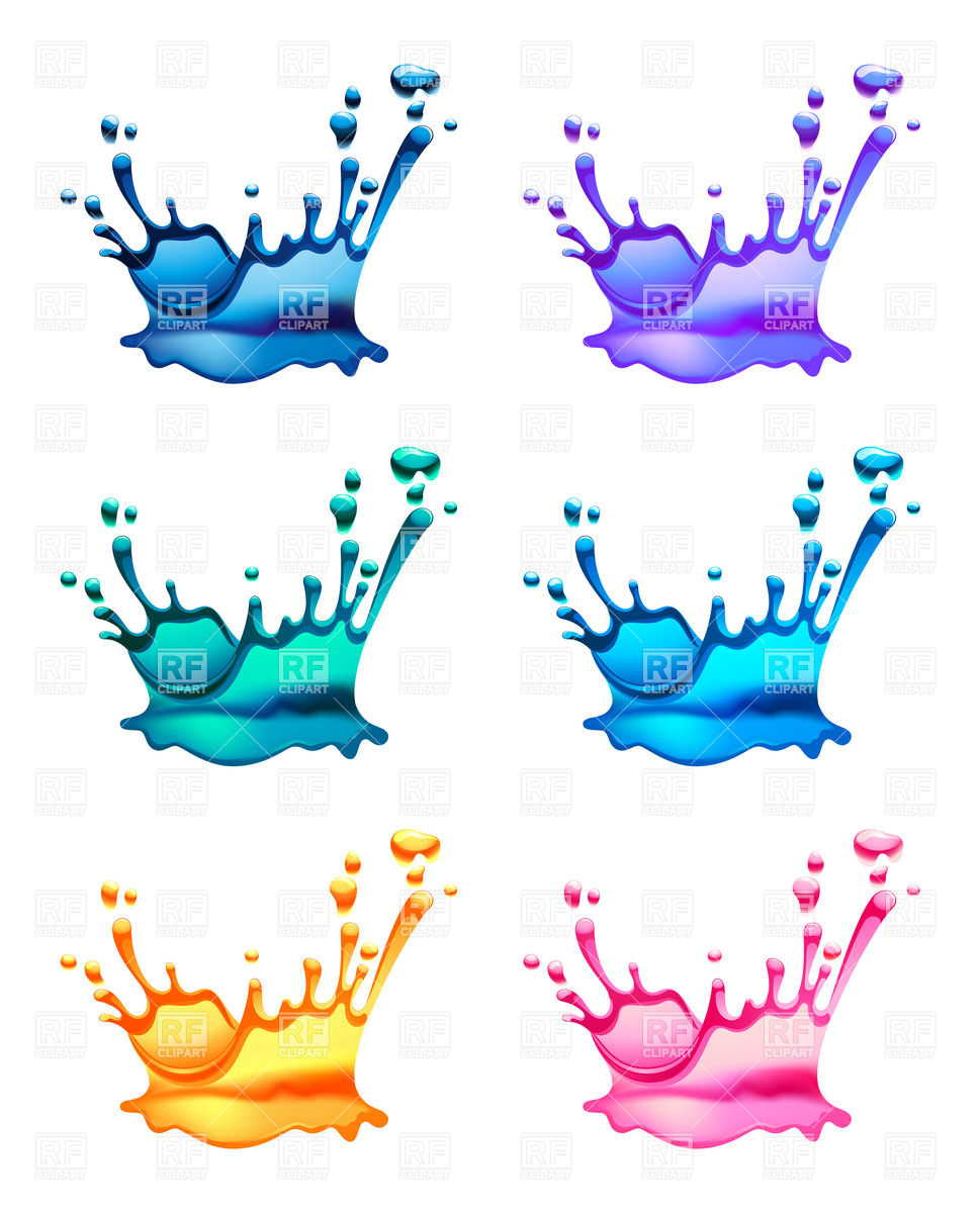 Water puddle splash clipart.