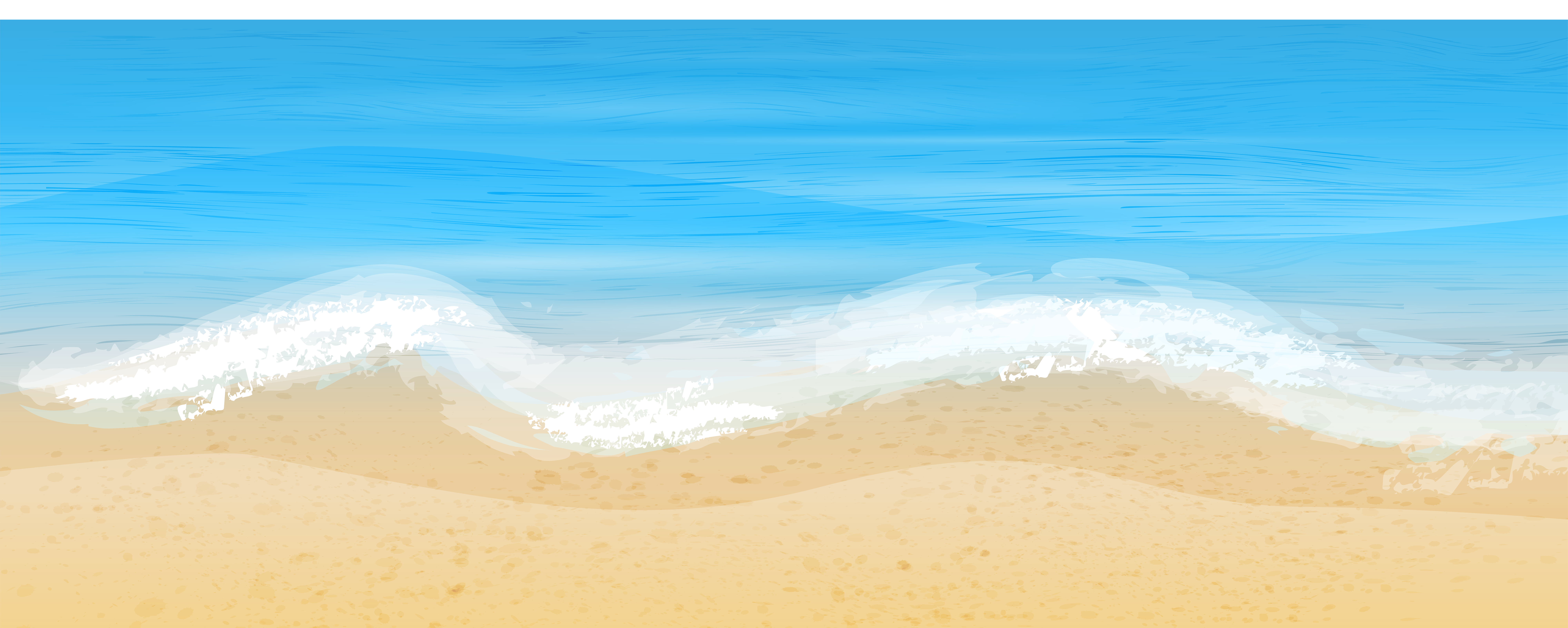 Sea and Sand Free PNG Clip Art Image.