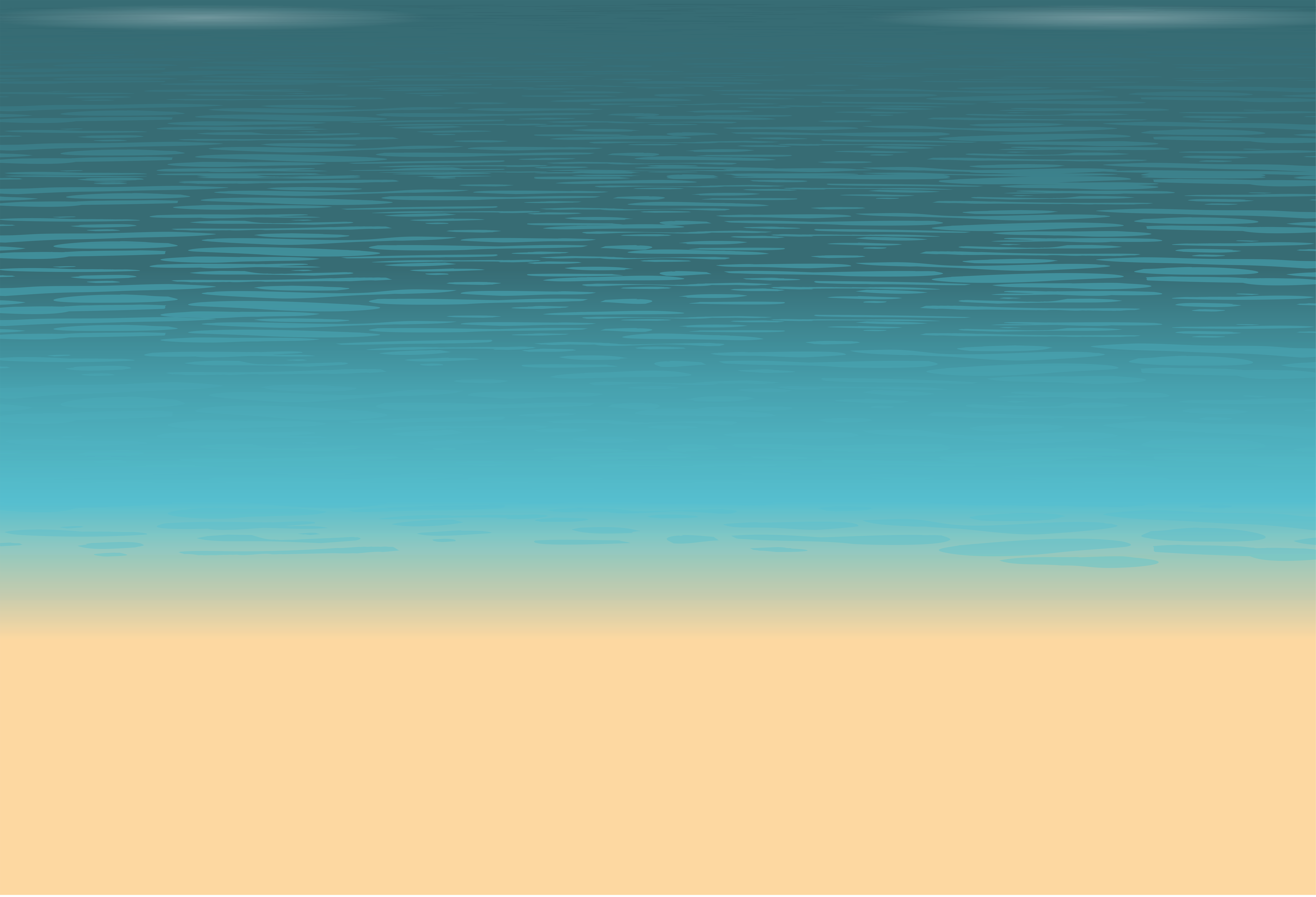 Sea and Sand Ground PNG Clip Art Image.