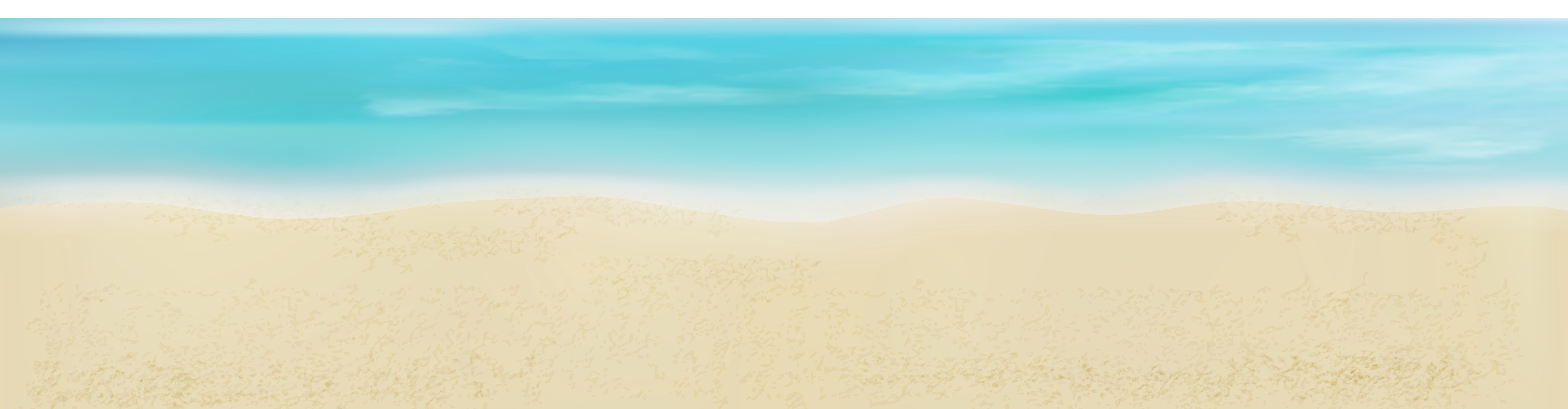 Sand and Sea PNG Clip Art Image.