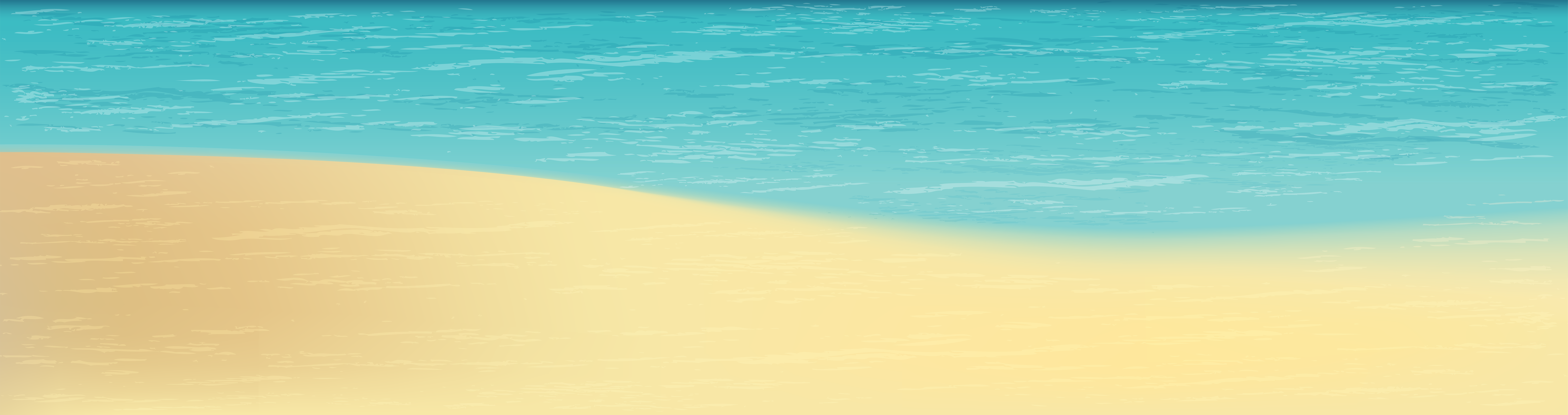 Sea and Sand Clip Art PNG Image.