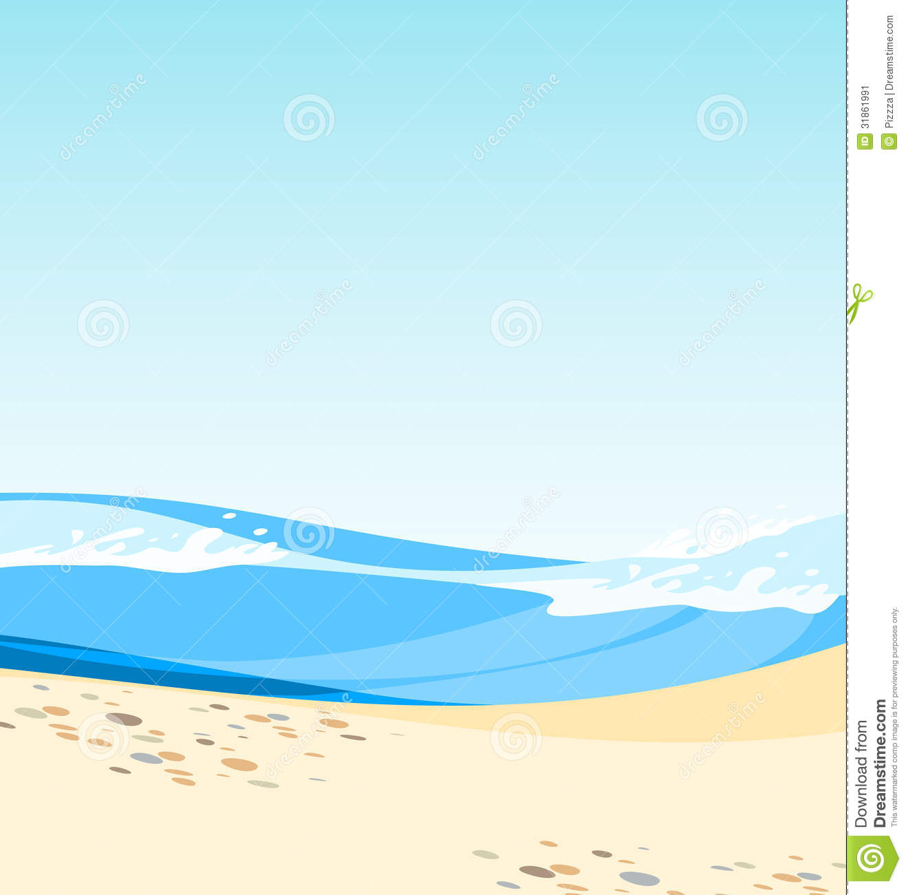 Summer Beach Scene Stock Image.