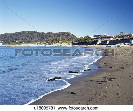 Stock Photography of Hayama Beach, Shonan, Kanagawa Prefecture.