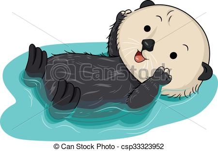 Sea otter Clip Art Vector Graphics. 63 Sea otter EPS clipart.