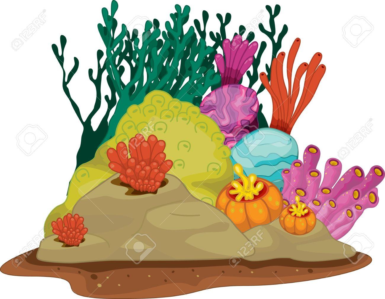 Sea Plants Clipart.