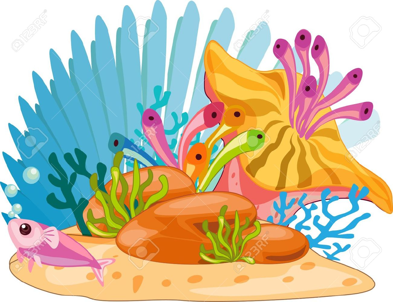 Sea plants clipart 6 » Clipart Station.