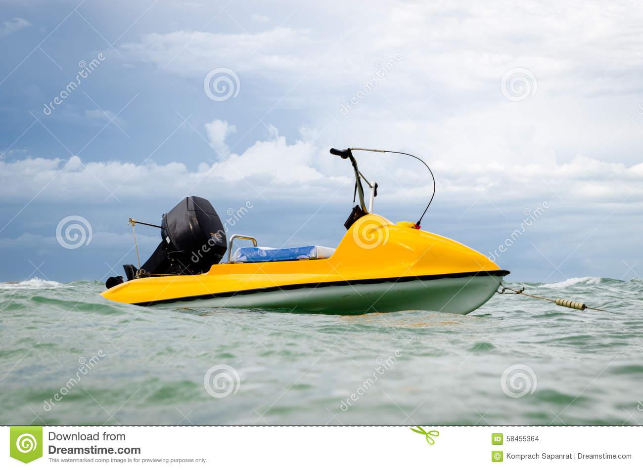 Sea Scooter Stock Photo.