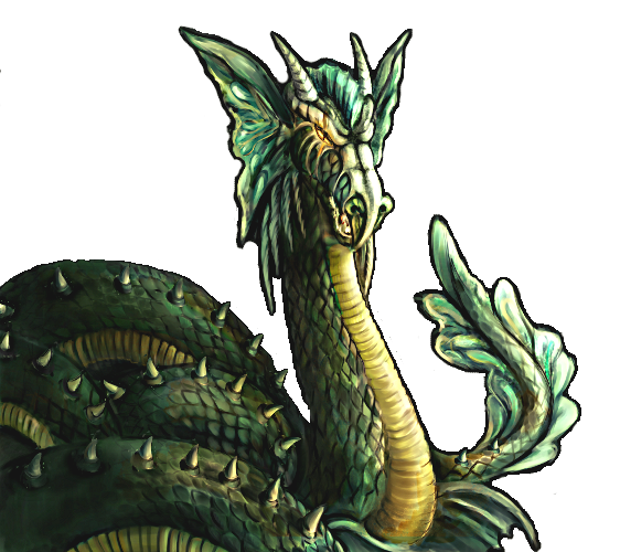 Sea Serpent portrait.