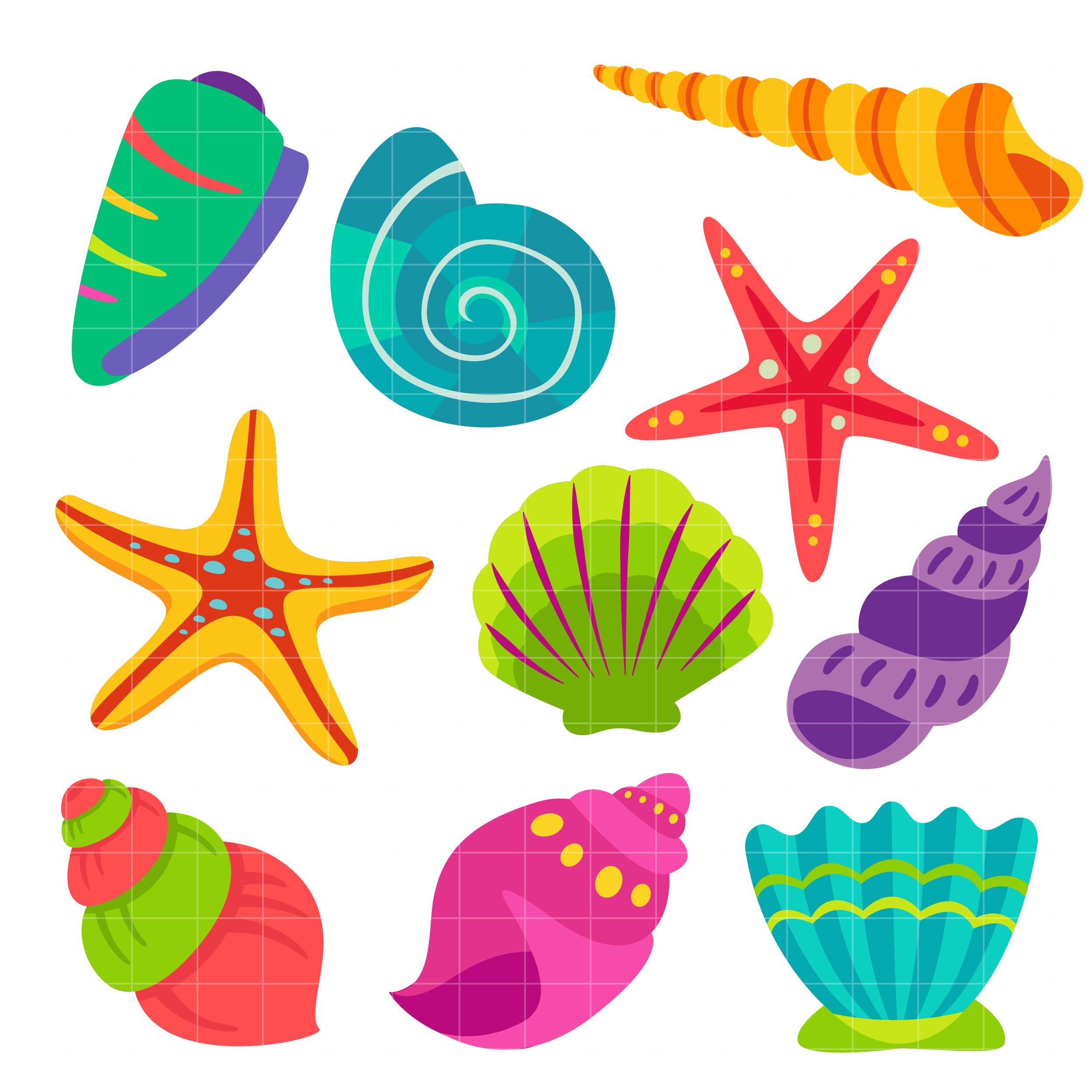 25+ Sea Shells Clip Art.