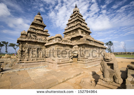 Famous Tamil Nadu Landmark Shore Temple Stock Photo 155383871.