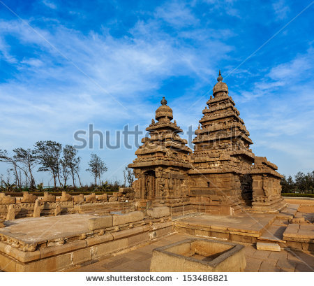 Seashore Temple Mahabalipuram India Stock Photo 58479583.