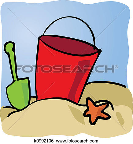 Clipart of seaside bucket and spade k13310783.