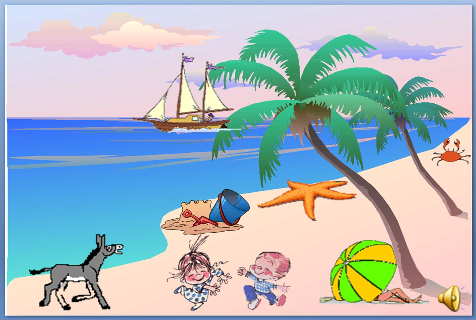 Seaside clip art.