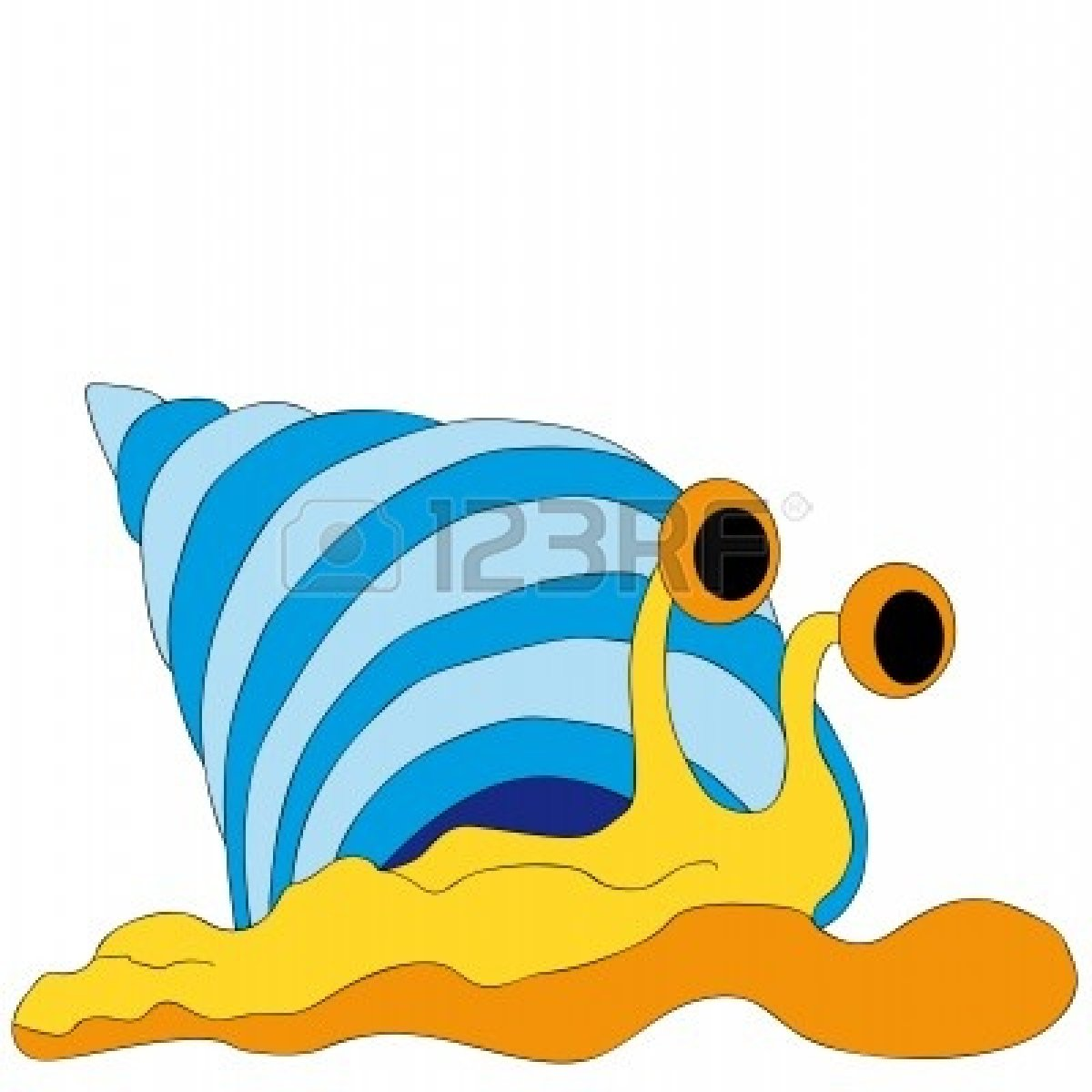 Sea Snail Clip Art.