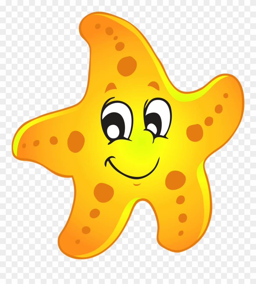 Starfish Cute Of A Sea Star Clipart.