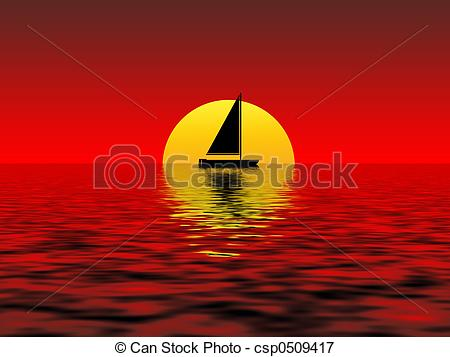 Stock Illustrations of sunset.