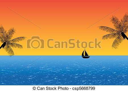 Ocean sunset Stock Illustrations. 13,647 Ocean sunset clip art.