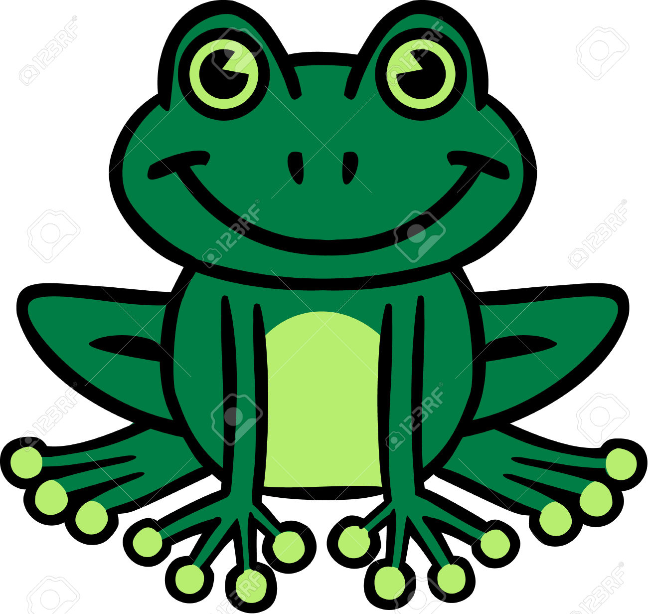 Smiling Frog Cartoon Royalty Free Cliparts, Vectors, And Stock.