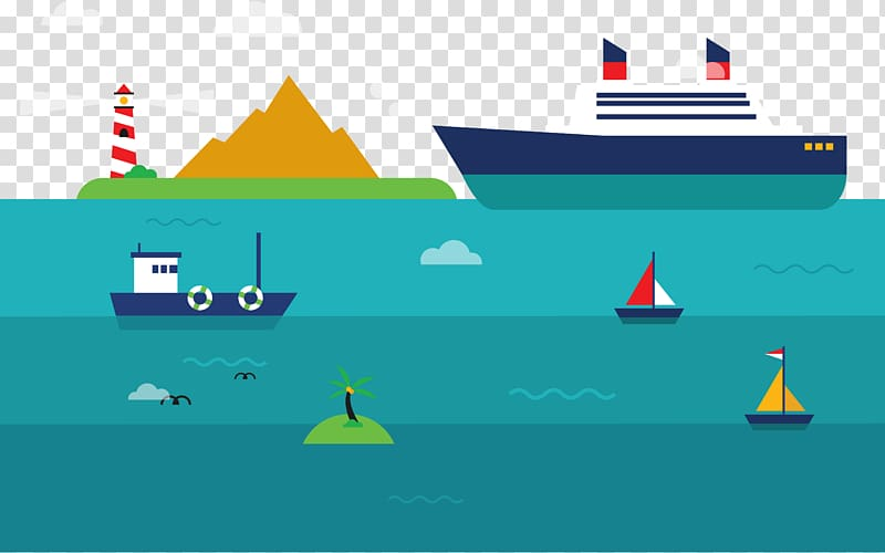 Graphic design Transport Cargo ship, Sea transport.