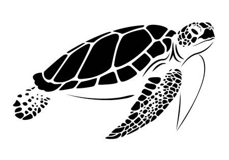 Black and white sea turtle clipart 4 » Clipart Station.