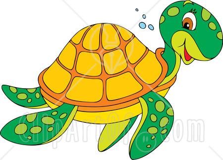 Hawaiian Sea Turtle Clipart.