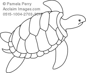 Sea Turtle Drawing Outline.
