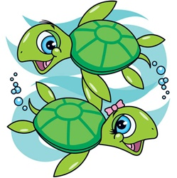 100582 Turtles Girl & Boy ….