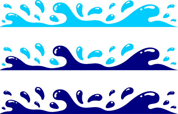 Sea water splash clipart.