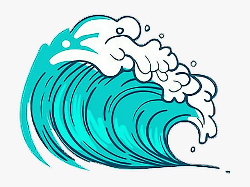 sea #wave #blue #freetoedit #귀여운 #picsart #cute #kawaii.
