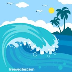 Sea waves clipart 1 » Clipart Station.