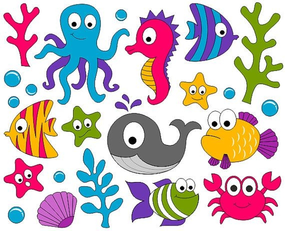 World under the sea clipart.