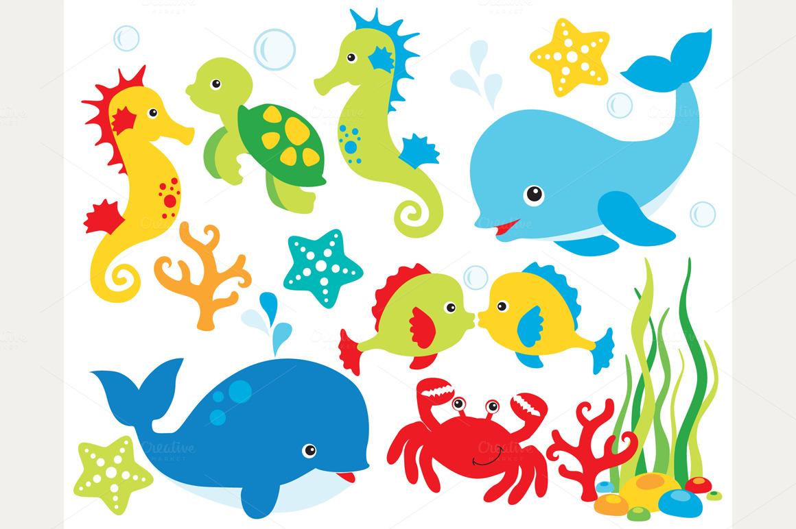 Under sea world clipart.