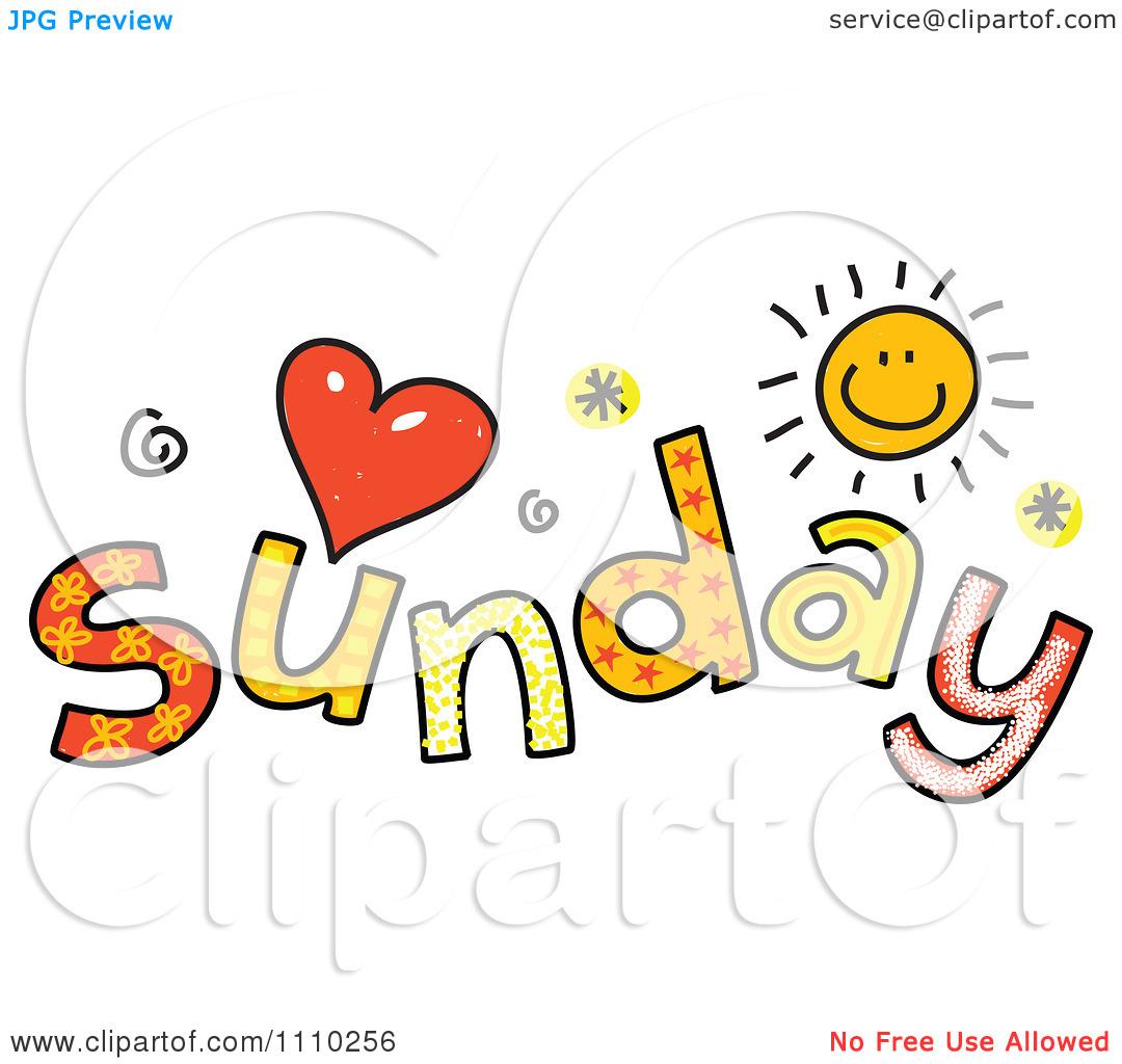Happy Sunday Clipart.