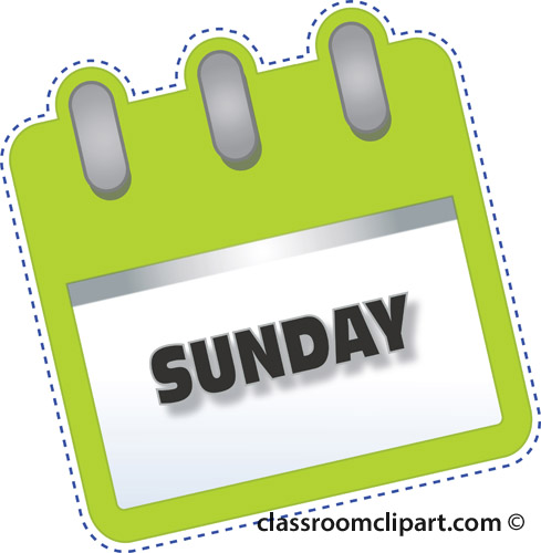 Sunday clipart images.