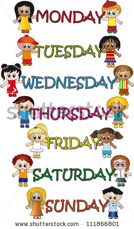 Days Of The Week Stock Photos, Royalty.