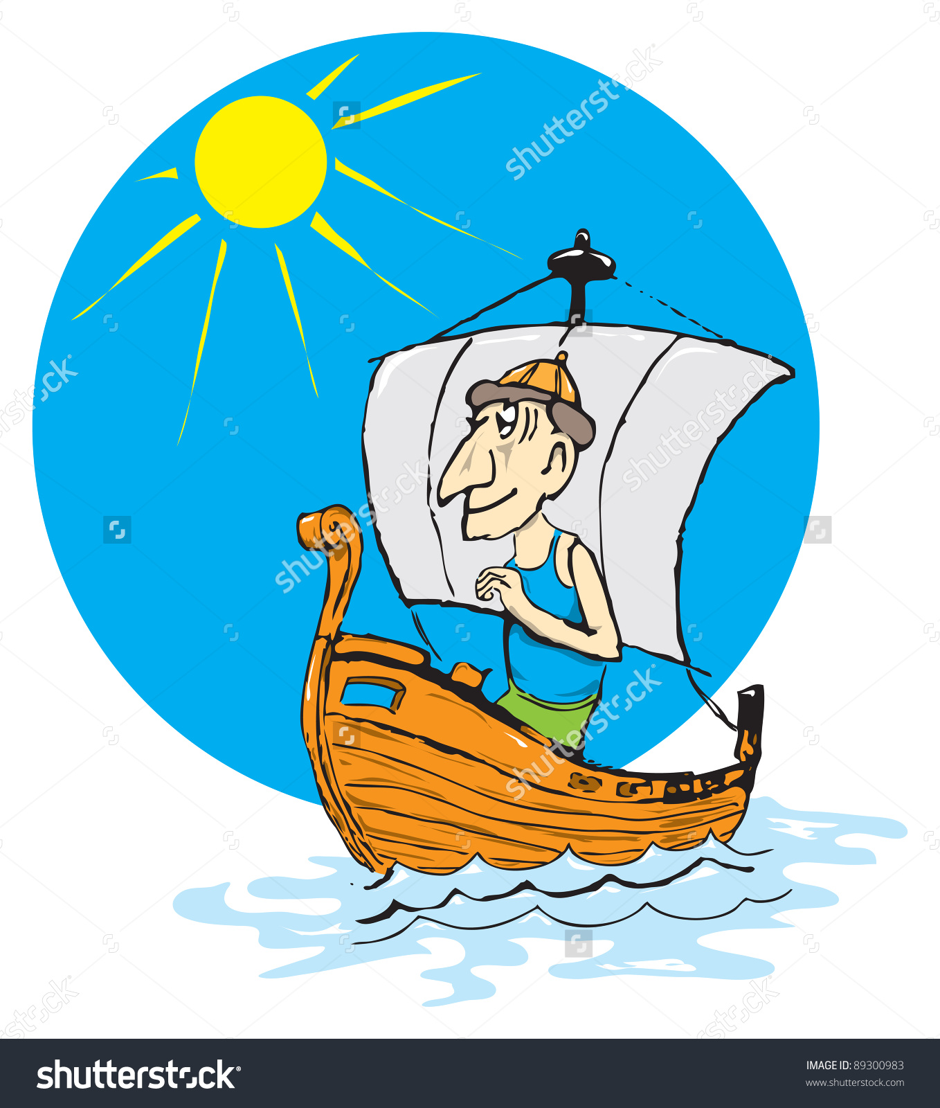 Playful Vector Drawing On Tourism Seafaring Stock Vector 89300983.