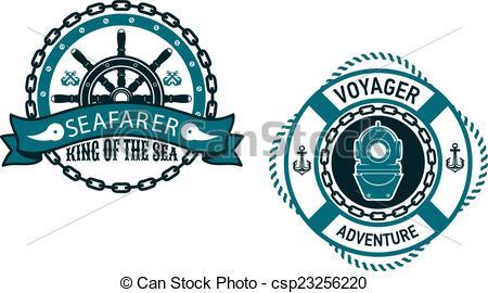 Vector Clip Art of Seafarer marine banner.