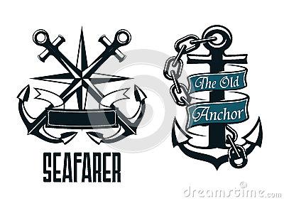 Seafarer Marine Banner Stock Vector.